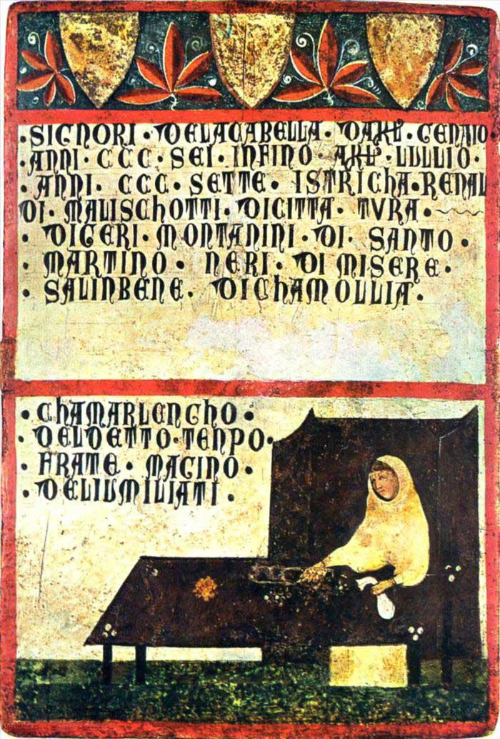 Guido di Graziano, Frate di San Galgano, 1324, Archivio di Stato di Siena