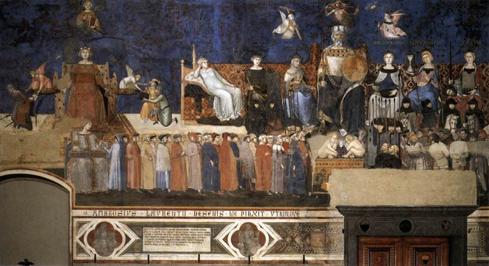 Allegory of the Good Government, fresco in the Palazzo Pubblico, Siena