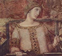 Ambrogio Lorenzetti, Allegory of Good Government (detail), Palazzo Pubblico, Siena, 1338-40