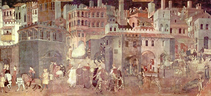 Sala Dei Nove Palazzo Pubblico Siena.Ambrogio Lorenzetti Allegory And Effects Of Good And Bad
