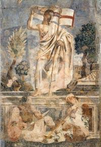 Andrea del Castagno, Resurrection (detail), 1447, fresco, Sant'Apollonia, Florence