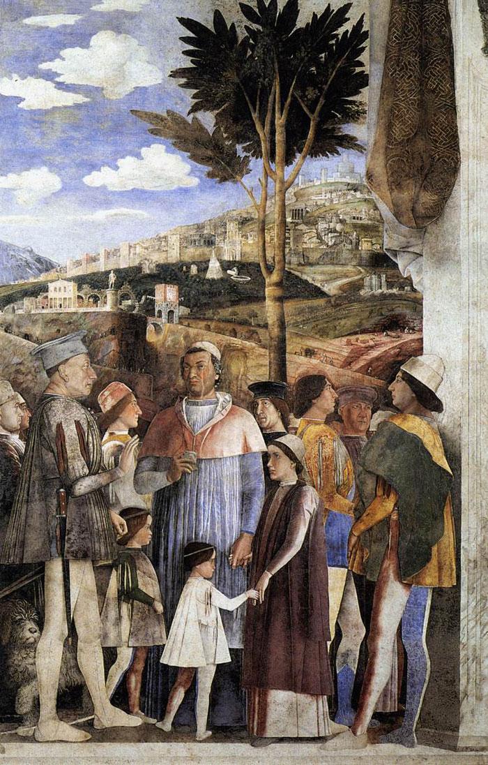 Andrea mantegna affrescchi nel palazzo ducale in mantua for La corte dei gonzaga mantegna