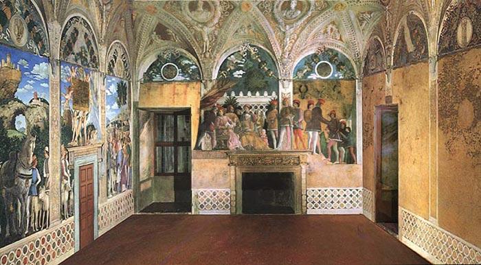 Andrea mantegna camera degli sposi art in tuscany for Camarade de chambre