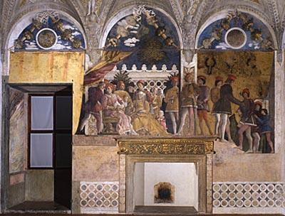 Andrea mantegna affrescchi nel palazzo ducale in mantua for La camera degli sposi a mantova