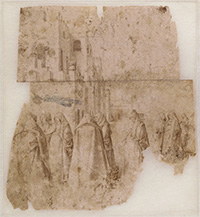 Antonello da Messina, Group of figures in a square, department of Prints and Drawings, Musée du Louvre, Paris