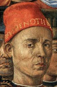Benozzo Gozzoli, a self-portrait which appears in his fresco of the Procession of the Magi