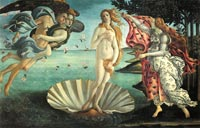 Sandro Botticelli , The Birth of Venus
