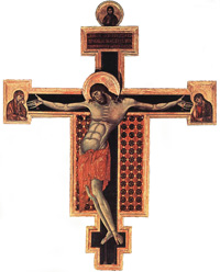 Cimabue, Crocifisso, 1268-71, 336 x 267 cm, San Domenico, Arezzo
