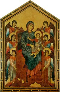 Cimabue, The Madonna and Child in Majesty Surrounded by Angels