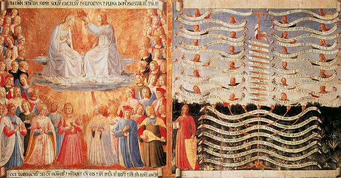 Fra Angelico, Armadio degli Argenti: Coronation of the Virgin and Lex Amoris