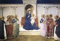 Fra Angelico, Sacra Conversazione, c. 1443, fresco, 195 x 273 cm, Convento di San Marco, Florence