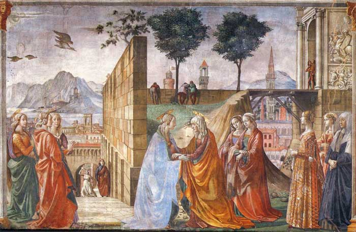 Domenico Ghirlandaio, The Visitation, fresco in the Cappella Tornabuoni, Santa Maria Novella, Firenze