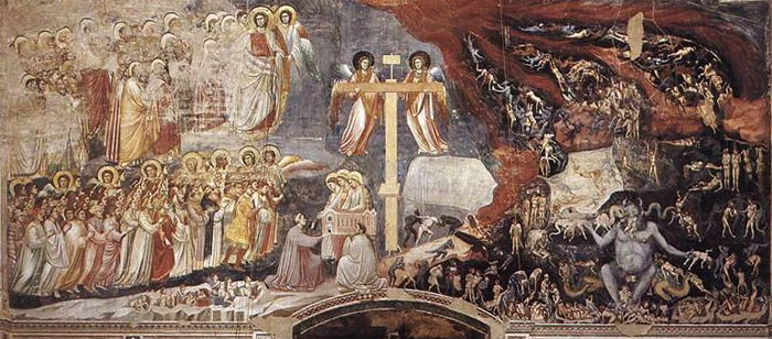 giotto last judgment in the scrovegni chapel in padua