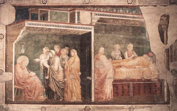 what did giotto introduce into paintings of religious scenes