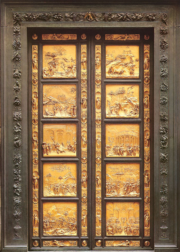 East doors or Gates of Paradise by Lorenzo Ghibertiadise by Lorenzo Ghiberti
