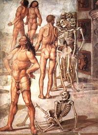 Luca Signorelli, Resurrection of the Flesh (detail), fresco in the Chapel of San Brizio, Duomo, Orvieto.