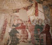 Memmo di Filippuccio, ciclo di affreschi la culla dell'amore, prima del restauro