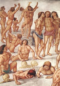 Luca Signorelli, Resurrection of the Flesh (detail)