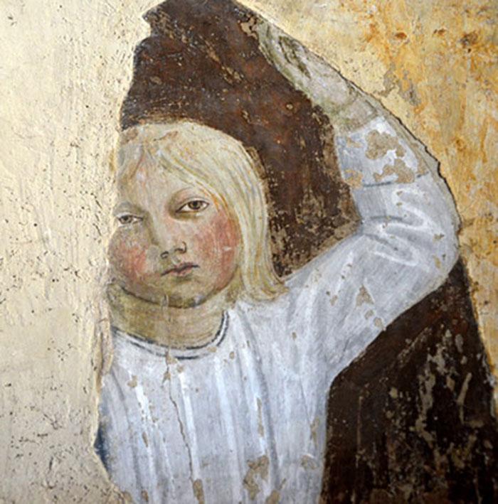 Pier Francesco Fiorentino,Angeli reggicortina(dettaglio),Certaldo, ex chiesa dei Santi Tommaso e Prospero