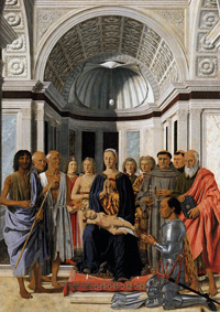 Piero della Francesca, Madonna and Child with Saints (Montefeltro Altarpiece, 1472-1474)