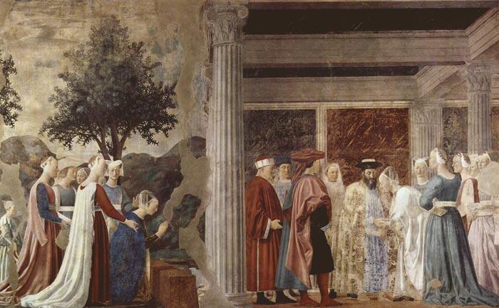 dipinto epoca 700 RE SALOMONE E LA REGINA DI SABA