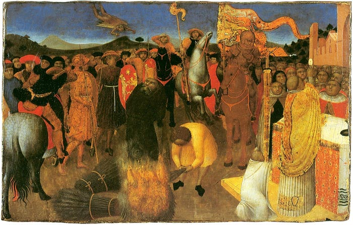 Sassetta, Death of the Heretic on the Bonfire