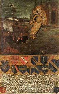 """Guidoccio Cozzarelli The Virgin guiding """"the ship of the Republic"""""""