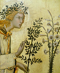 Simone Martini, The Annunciation and the Two Saints
