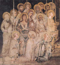 Simone Martini, Maestà (Madonna with Angels and Saints), 1312 - 1315, Palazzo Pubblico, Siena