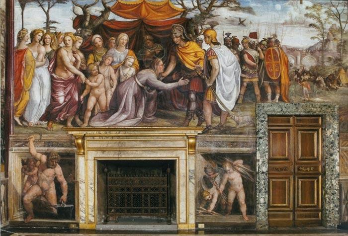 Il Matrimonio Romano Versione Latino : Il sodoma affreschi alla farnesina le nozze di alessandro e