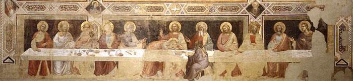 Taddeo Gaddi, Cenacolo, Basilica di Santa Croce, Firenze, het oudste Laatste Avondmaal in Firenze