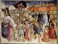 Vecchietta, Road to Calvary, fresco on the wall of the apse, Cathedral of Siena, 1447-50
