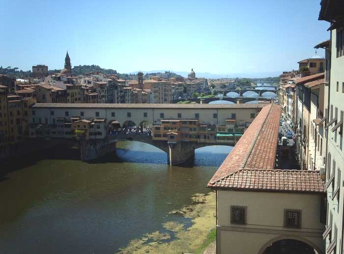 Florence, The Vasari Corridor and Ponte Vecchio