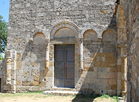 The Abbey of Santa Maria Assunta in Conèo, façade