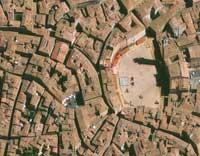 Siena Piazza del Campo, Pista Palio