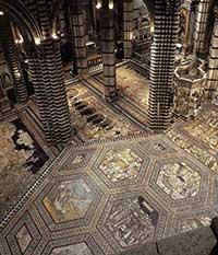 Siena cathedral, mosaic floor