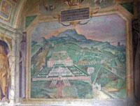 Villa Lante, Loggia della Palazzina Gambara, affresco della Villa Lante