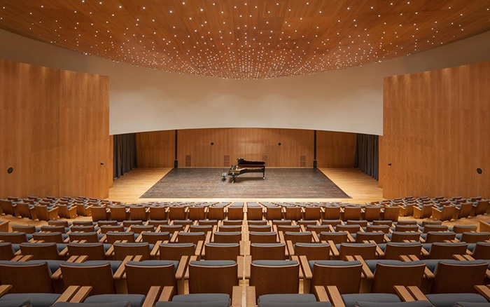 Forum Fondazione Bertarelli, interno sala