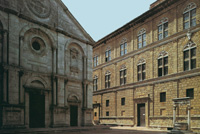 Pienza, Piazza Pio II