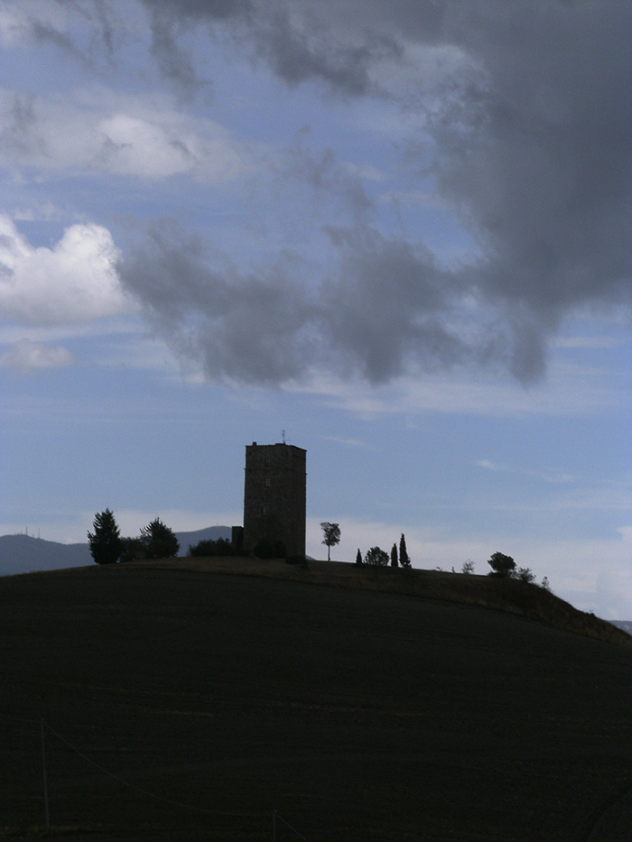 Tarugi tower in the Val di Chiana between Radicofani and Chiusi