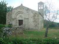 Villa a Tolli, chiesa