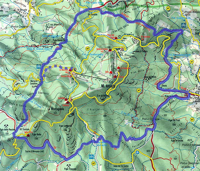 Anello Amiata Kompass map