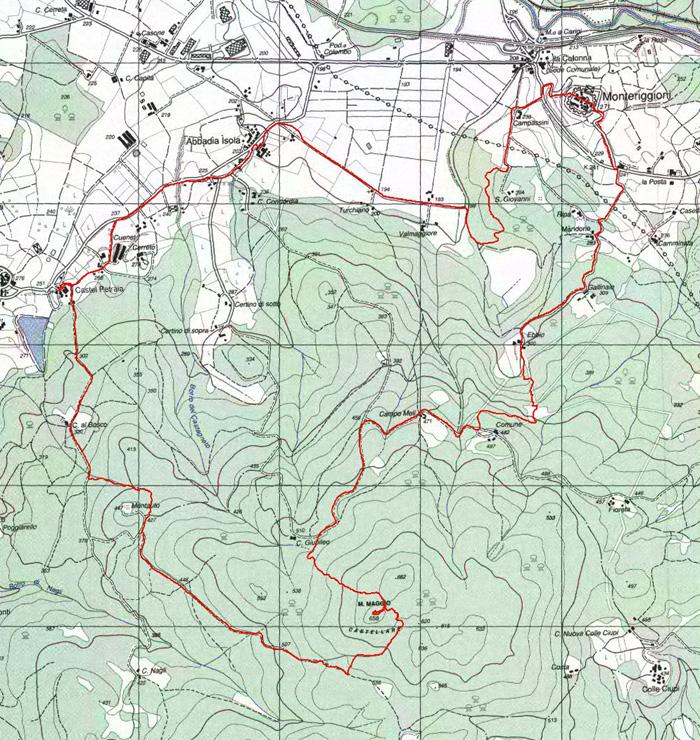 Mappa Anello Monteriggioni