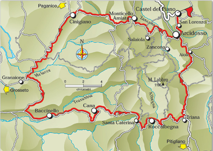 Cicling in Tuscan Maremma From Amiata to the Plain and Back GR8