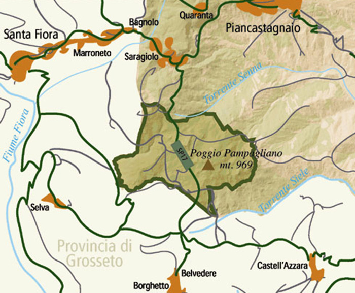 Riserva Naturale Pigelleto, map